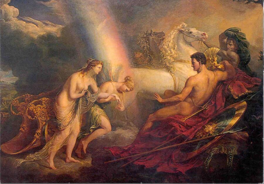 Джордж Хейтер, Венера, сопровождаемая Ирис, жалуется Марсу, 1820 г., Чатсуорт-хаус, Англия