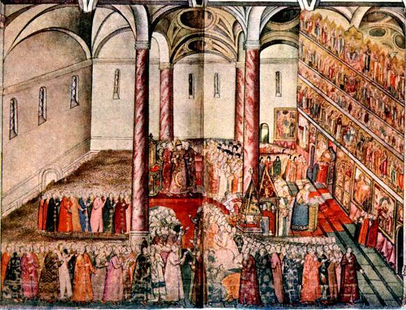 Венчание на царство Царя Михаила Федоровича в Успенском соборе