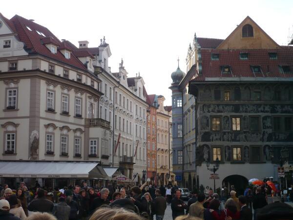 Туристы на Староместской площади