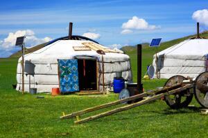 Зачем монголы вкапывают шины у юрт?