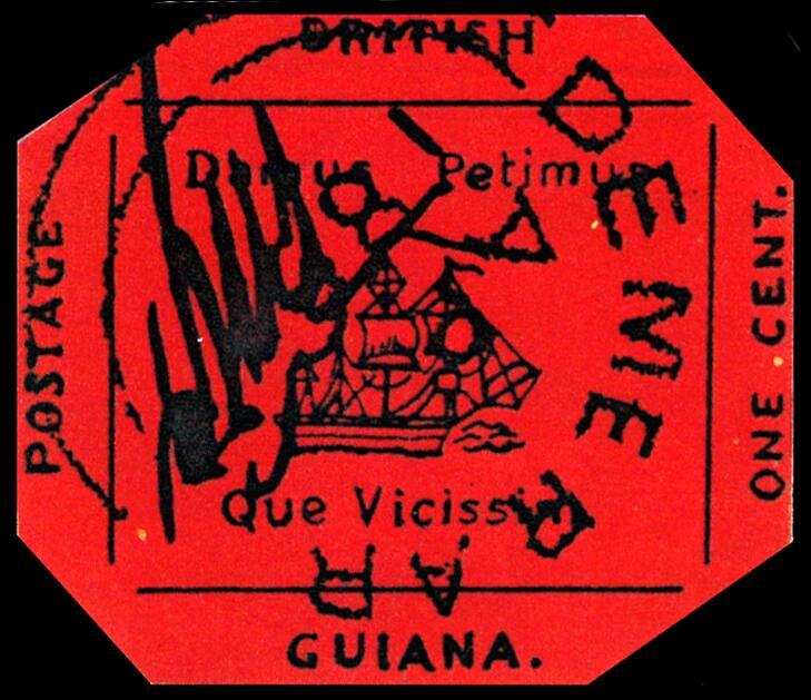 Поздняя реконструкция «Британской Гвианы» (отчётливо видны все надписи и детали рисунка)
