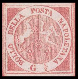 Первая марка Неаполя, 1858 г.