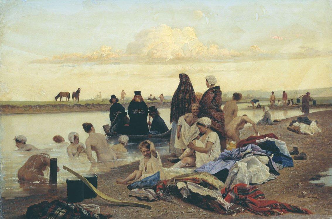 Л. Соловьев, «Монахи. Не туда заехали», 1870-е гг.