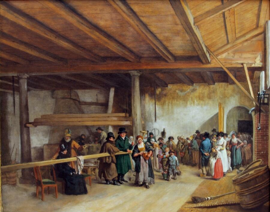 Вайбренд Хендрикс, Раздача супа, 1815, музей Тейлера, Харлем, Нидерланды