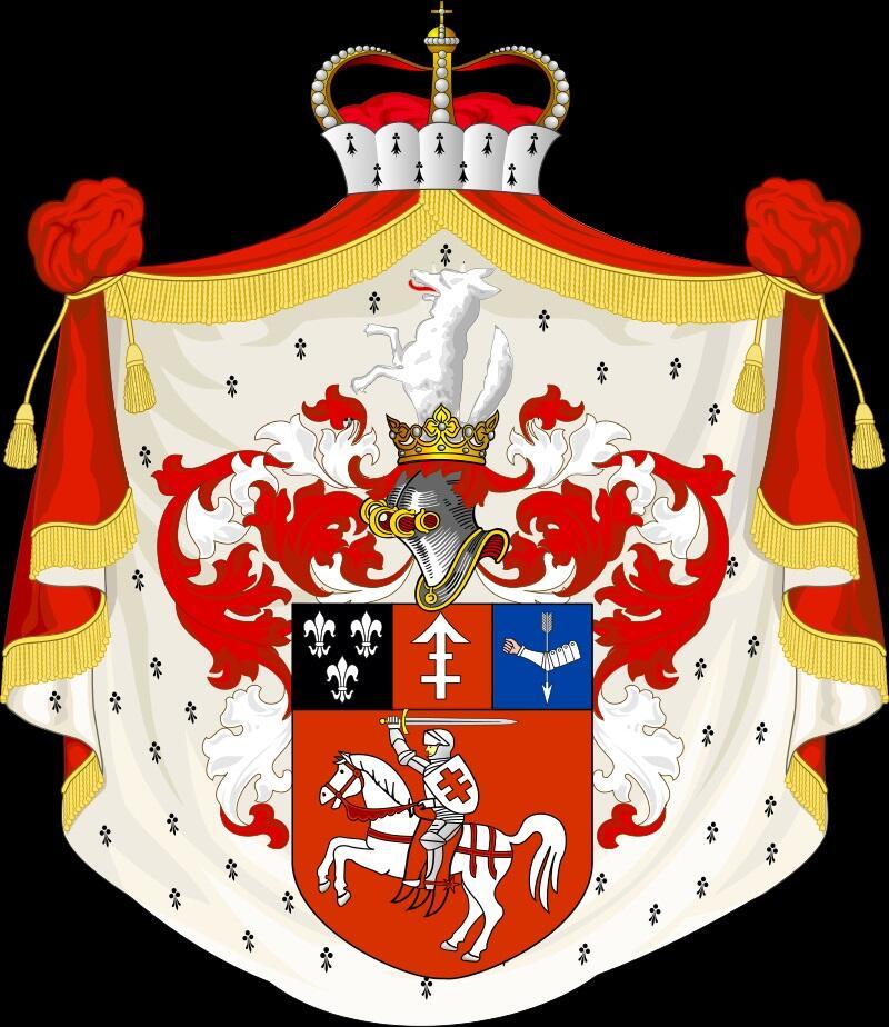 Большой герб Сапег русского подданства. Создан в 1858—1859 годы