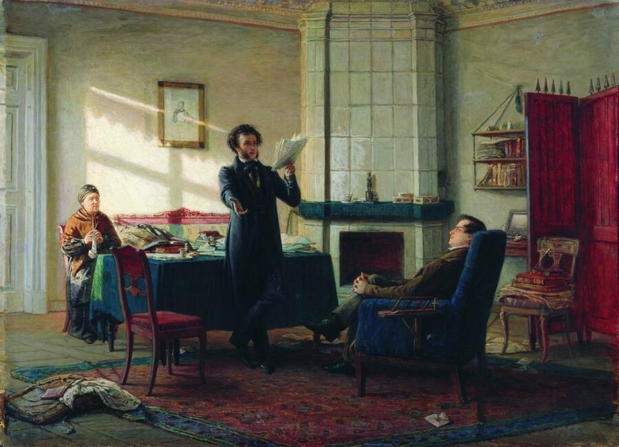 Картина Николая Ге «А. С. Пушкин в селе Михайловском»
