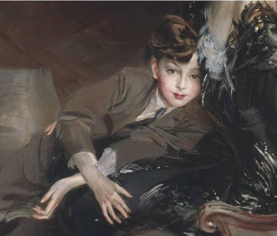 Джованни Болдини, портрет Консуэло Вандербильт, фрагмент