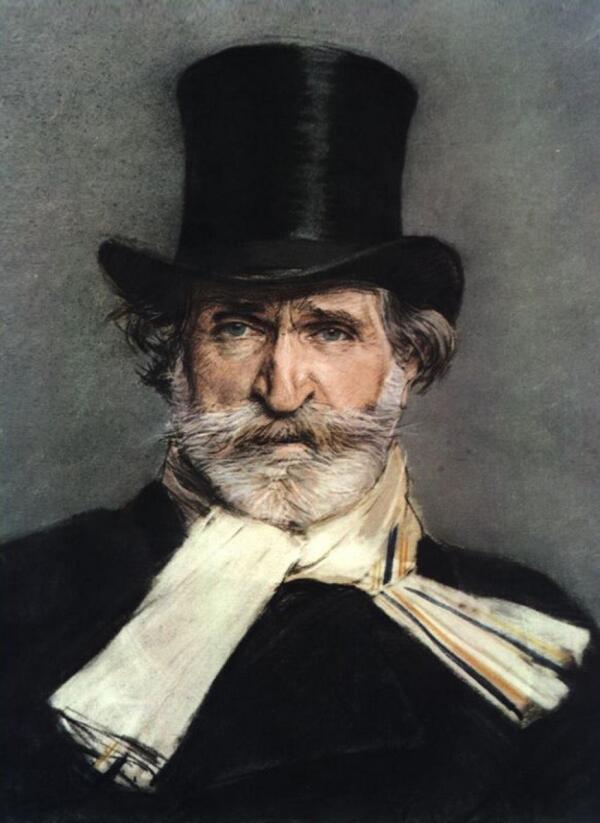 Джованни Болдини, портрет композитора Джузеппе Верди, 1886, Национальная галерея современного искусства, Рим, Италия