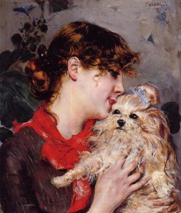 Джованни Болдини. Портрет госпожи Режан, 1885, частная коллекция