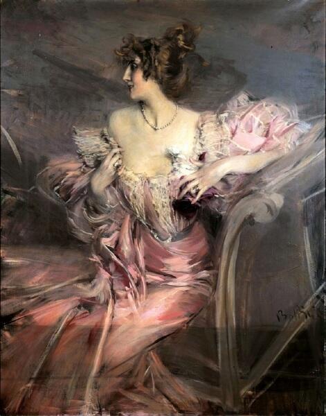 Джованни Болдини, портрет Марты де Флориан, ей 24 года, 1888, частное собрание