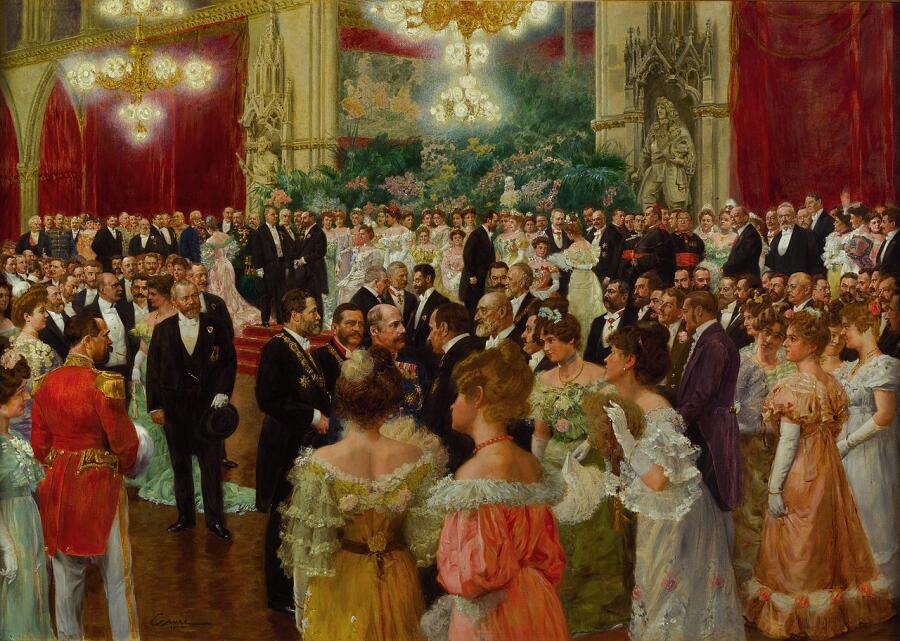Венский бал на картине 1904 года