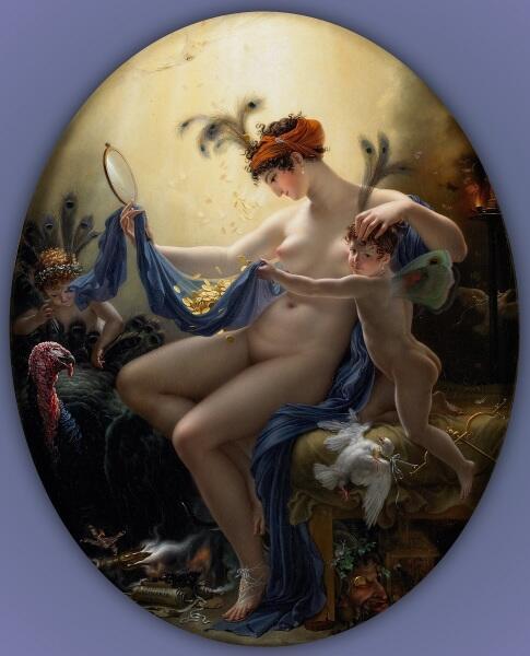 Жироде-Триозон, Мадемуазель Ланж в виде Данаи, 1799, институт искусств Миннеаполиса, США