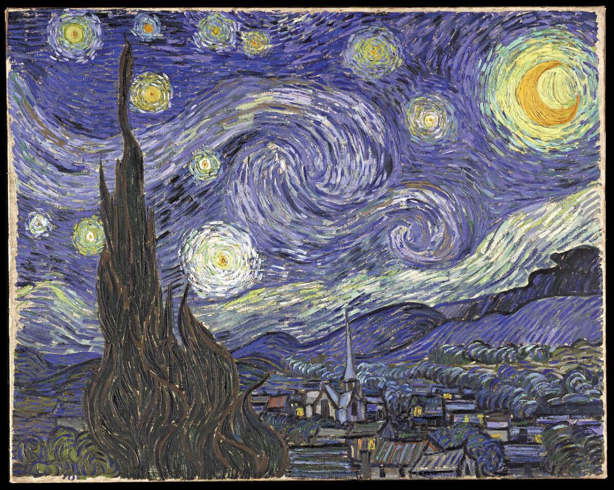 Винсент ван Гог, «Звёздная ночь», 1889 г.