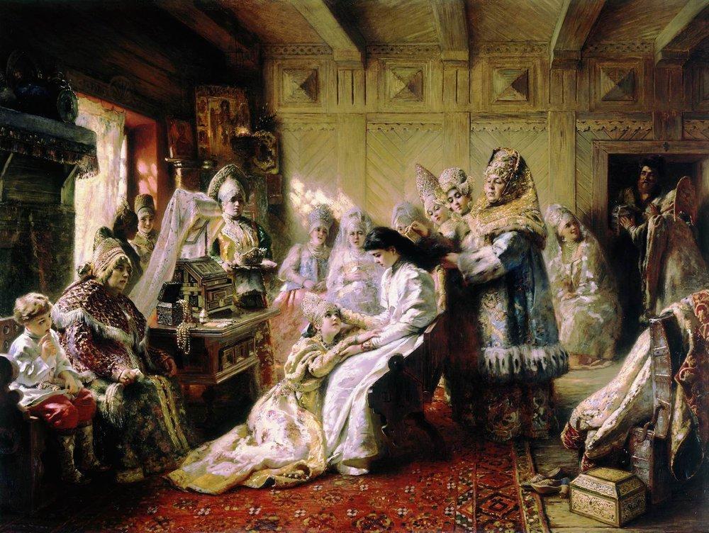 К. Е. Маковский, «Под венец», 1884 г.
