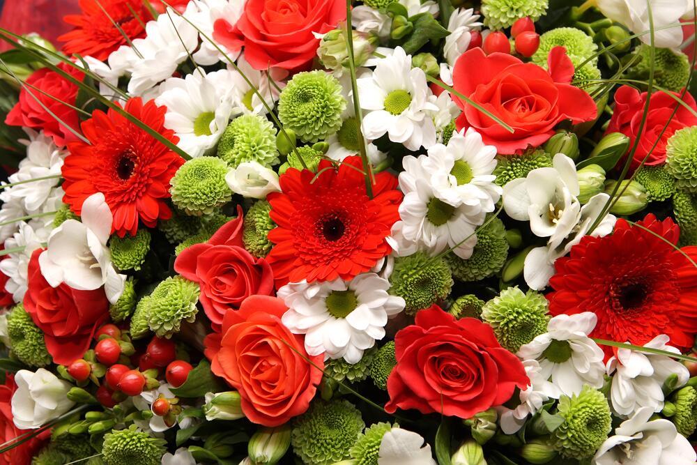 Цветы, как признание таланта артиста