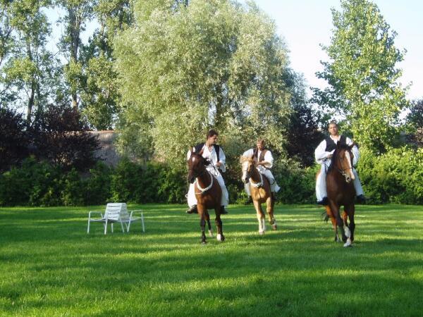 Свадебные гуляния. Скачки на лошадях