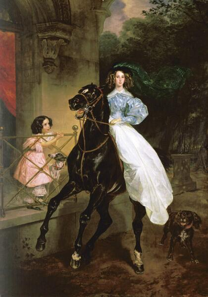К. П. Брюллов, «Всадница», 1832 г.
