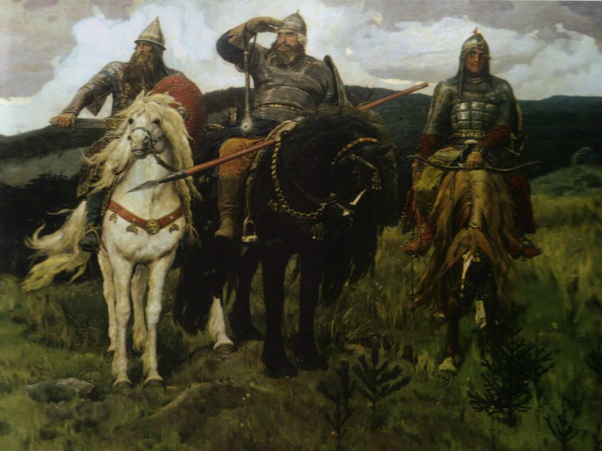 В. М. Васнецов, «Богатыри», 1881—1898 гг.