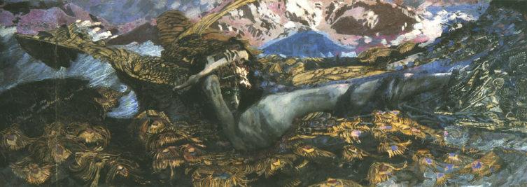 М. Врубель, «Демон поверженный», 1901—1902 гг.