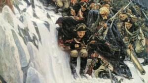 Чем отличаются картины Василия Сурикова? «Переход Суворова через Альпы»