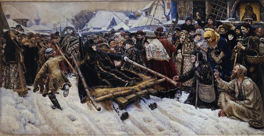 В. И. Суриков, «Боярыня Морозова», 1884-1887 гг.