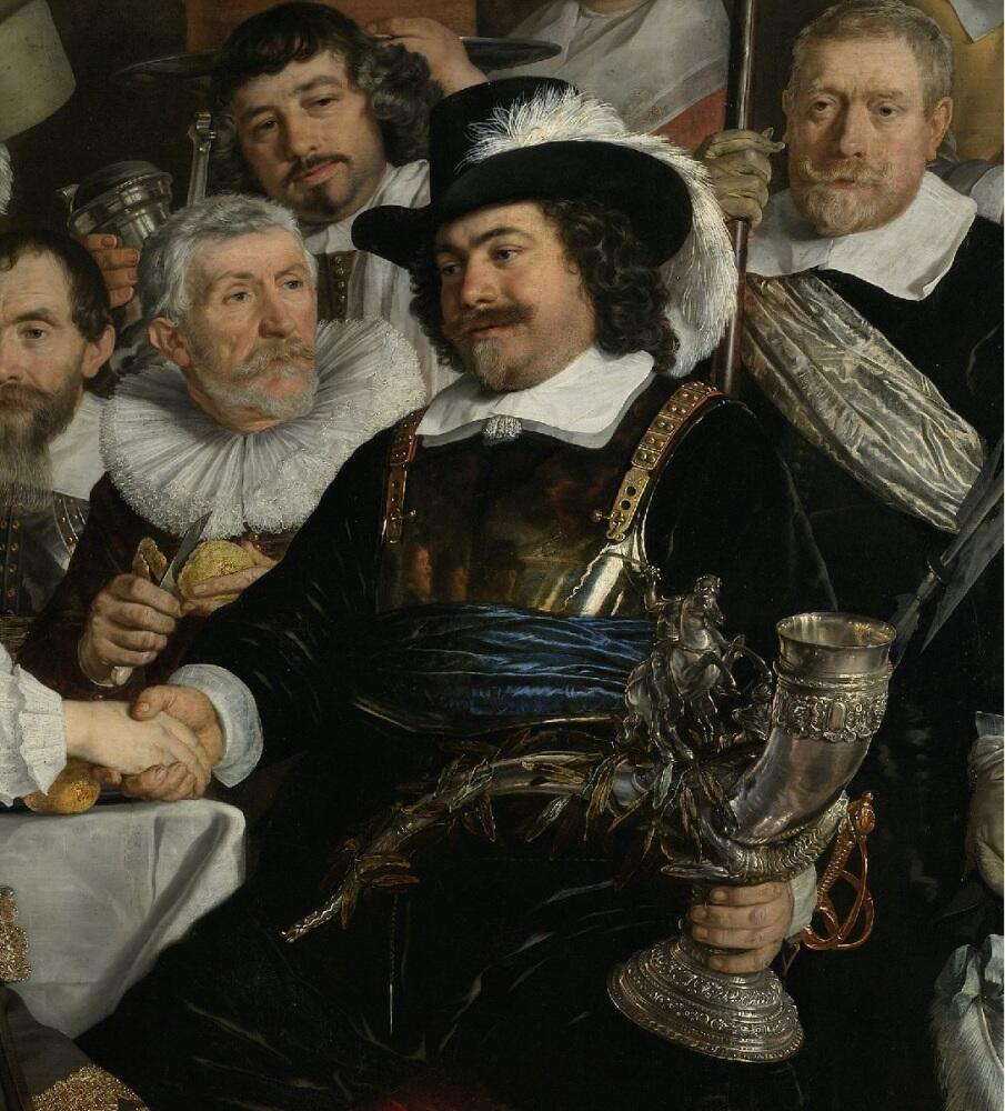 Бартоломеус ван дер Гельст, Банкет по поводу заключения Мюнстерского договора, фрагмент