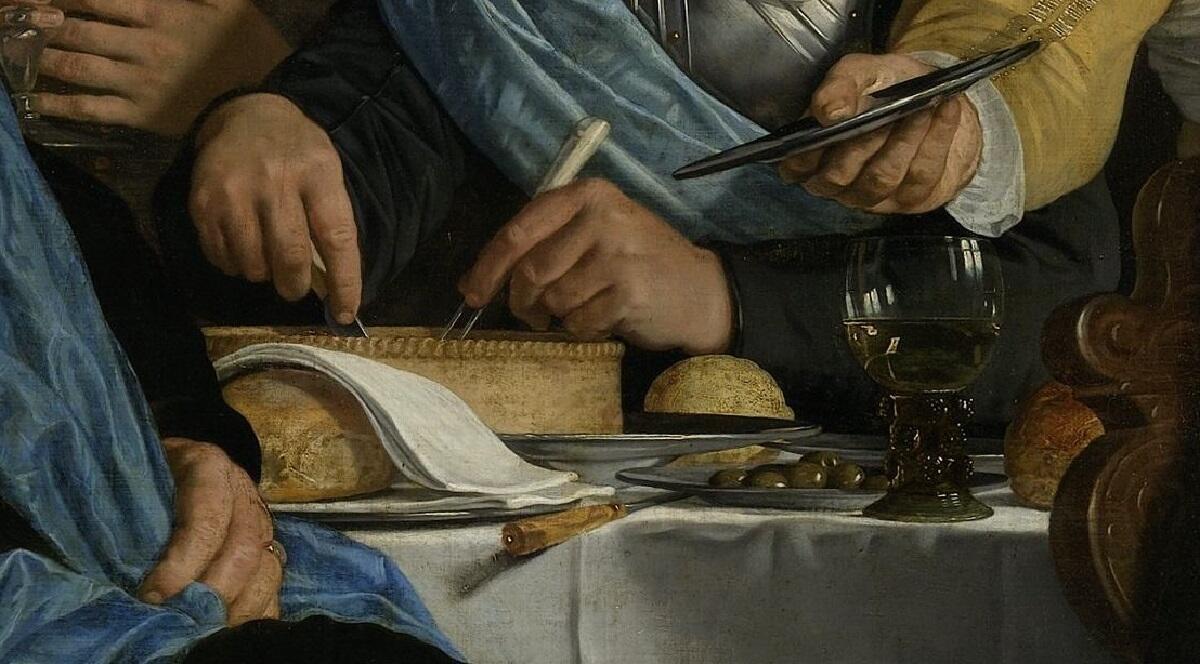 Корнелис ван дер Гельст, Банкет по поводу заключения Мюнстерского договора, фрагмент