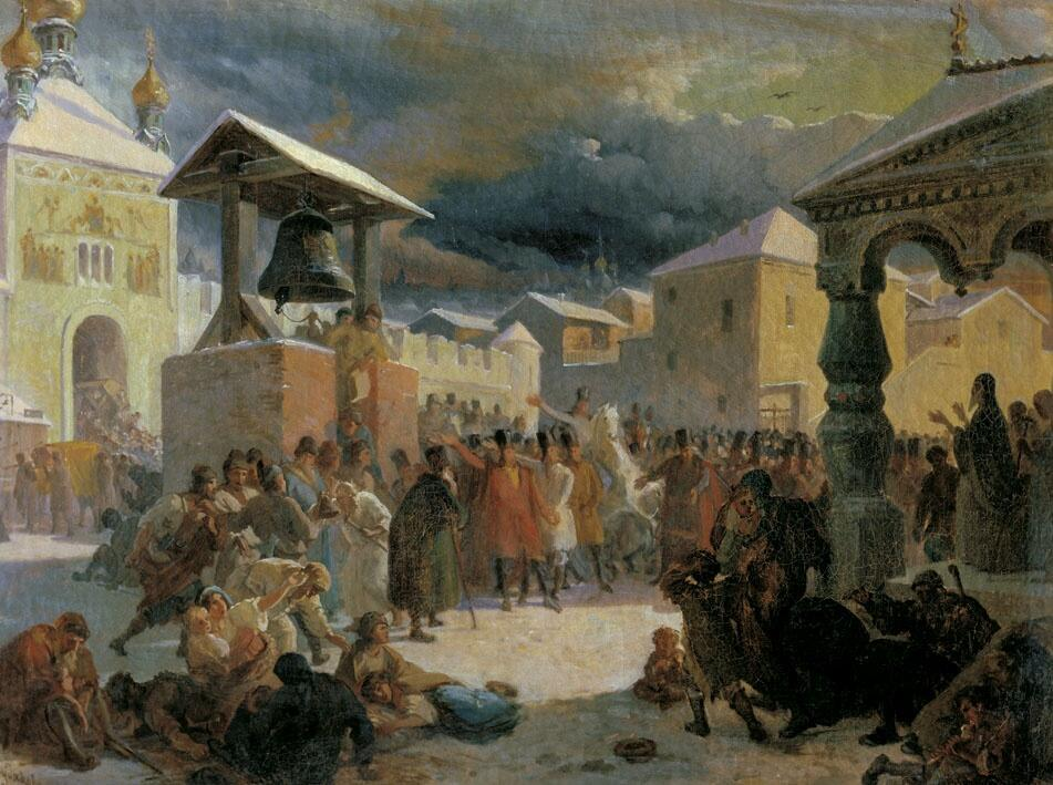 В. Г. Худяков, «Новгородское вече. Вечевой колокол», 1861 г.