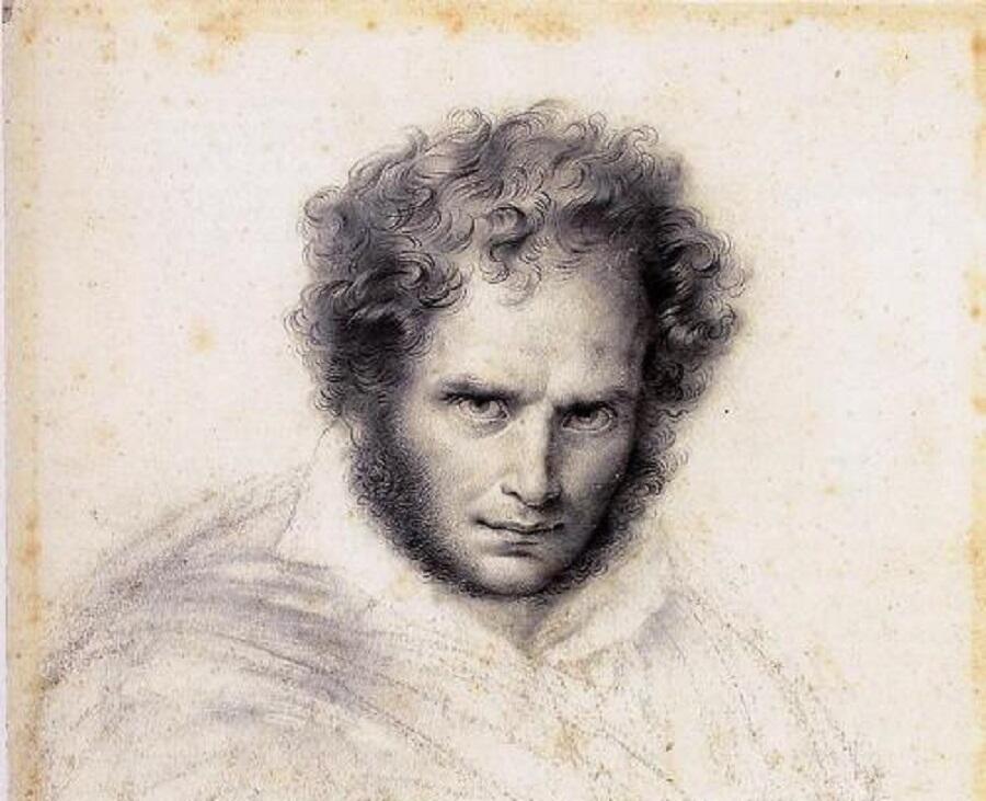 Жироде-Триозон, Автопортрет, фрагмент