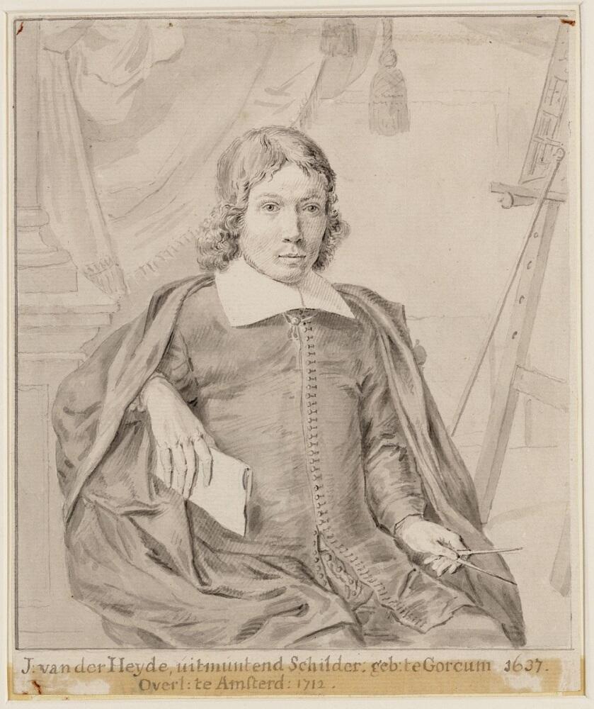 Неизвестный художник, портрет Яна ван дер Хейдена, 1681, 19х16 см, государственный архив Амстердама, Нидерланды