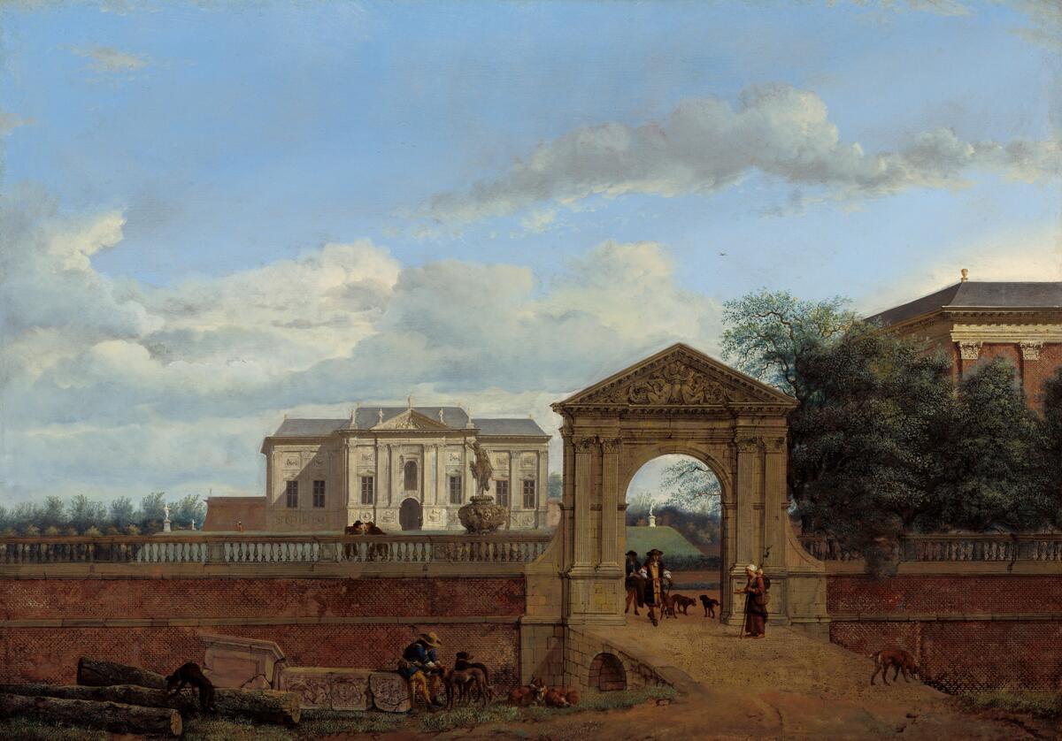 Ян ван дер Хейден, «Архитектурная фантазия», 1670, 50х71 см, Национальная галерея искусств,  Вашингтон, США