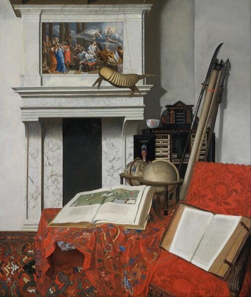 Ян ван дер Хейден, «Угол комнаты с диковинками», 1712, 75х63 см, Музей изящных искусств, Будапешт, Венгрия