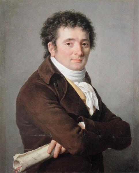 Аделаида Лабиль-Жиар, портрет комедийного актера Турнеля, 1799, 71х57 см,  музей Фогг, Кембридж, США