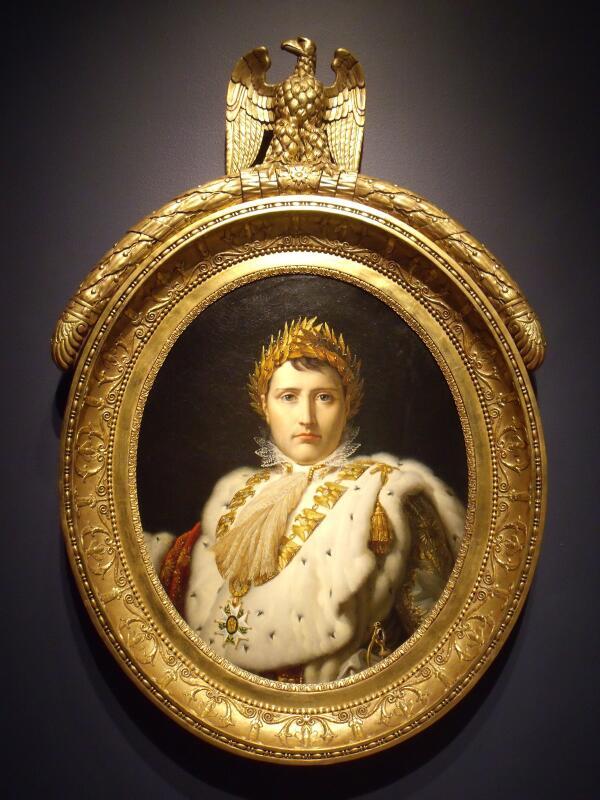 Мастерская барона Франсуа-Паскаля-Симона Жерара,  Поясной портрет Наполеона  в коронационной одежде,  1805, Montreal Museum of Fine Arts, Канада