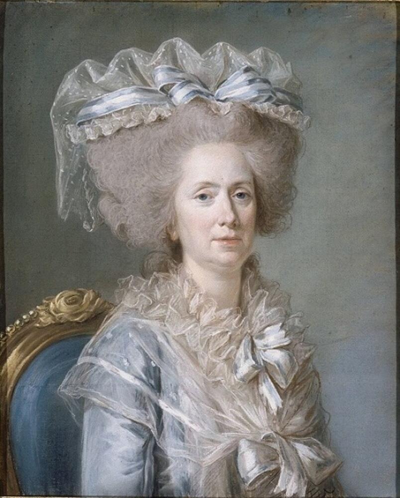 Аделаида Лабиль-Жиар, портрет Мари Аделаиды Французской (мадам Аделаиды), тетки короля Людовика XVI, покровительницы Аделаиды Лабиль-Жиар, 1786,  73х59 см, Версаль, Париж, Франция