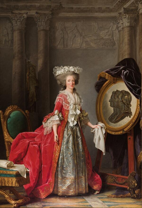 Аделаида Лабиль-Жиар, Портрет мадам Аделаиды, 1787, 271х194, Версаль, Париж, Франция