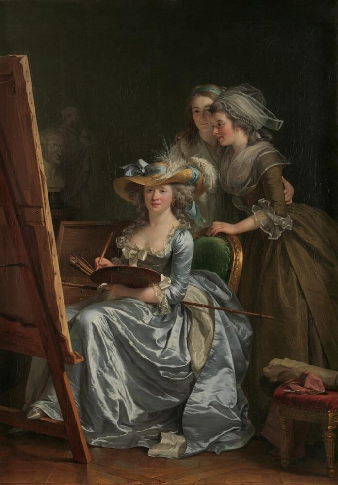 Аделаида Лабиль-Жиар, автопортрет с двумя ученицами, 1785,83х60 см, Метрополитен-музей, Нью-Йорк, США
