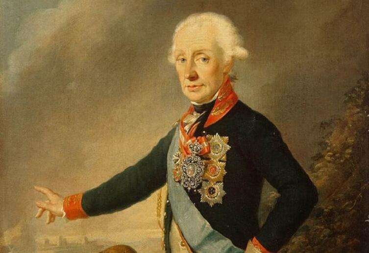 Й. Крейцингер, «Портрет фельдмаршала графа А. В. Суворова», фрагмент, 1799 г.