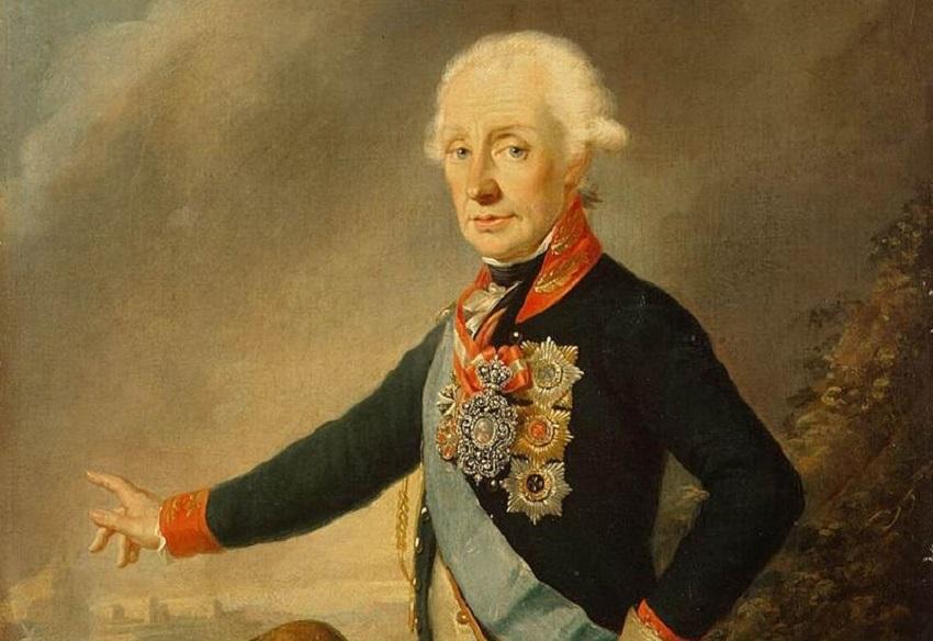 Й. Крейцингер, «Портрет фельдмаршала графа А. В. Суворова», фрагмент, 1799г.