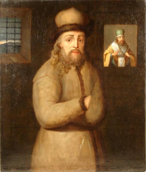 Арсений Мацеевич в заточении, картина первой половины XIX в.