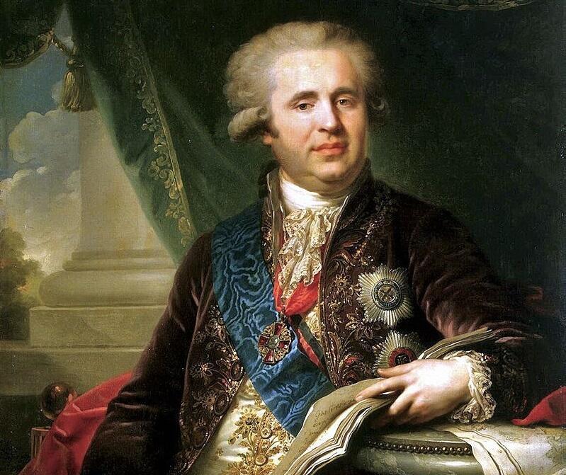 И. Б. Лампи, «Александр Андреевич Безбородко», фрагмент, 1792г.