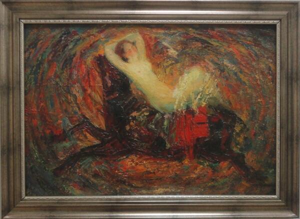 Б. Кукшиев. Похищение Европы. Оргалит, масло, 2009 г.