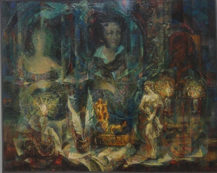 Б. Кукшиев. Посвящение Пушкину. Холст, масло, 1999 г.