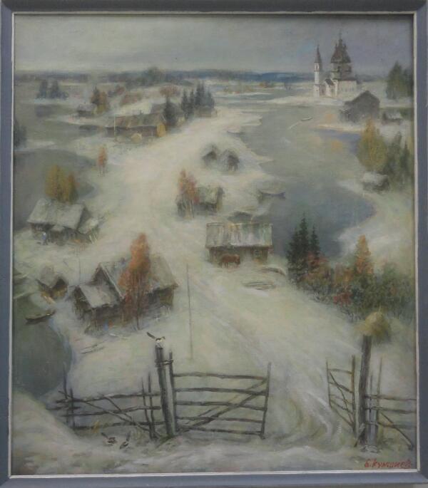 Б. Кукшиев. Заонежский мотив. Холст, масло, 2009 г.