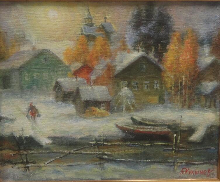 Б. Кукшиев. Маньга. Первый снег. Холст, масло, 2012 г.