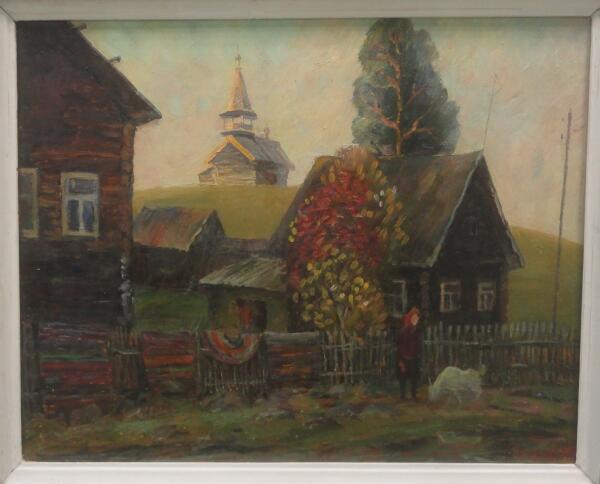 Б. Кукшиев. Маньга. Оргалит, масло, 1997 г.
