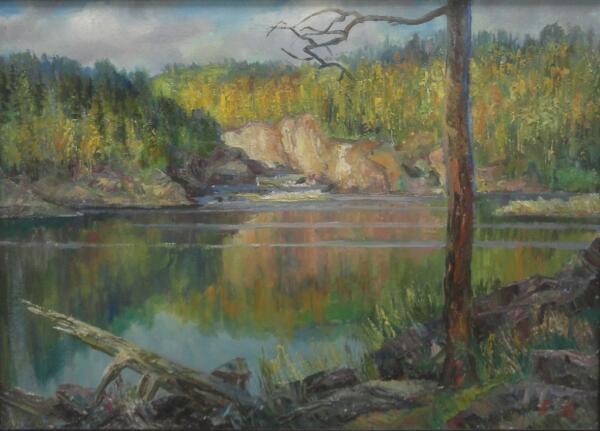 Б. Кукшиев. Тишина. Холст, масло, 2005 г.