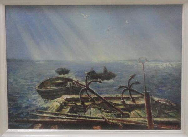 Б. Кукшиев. На Белом море. Дорога домой. Холст, масло, 2009 г.