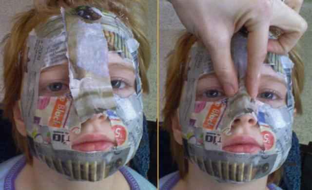 Как сделать папье маше маска