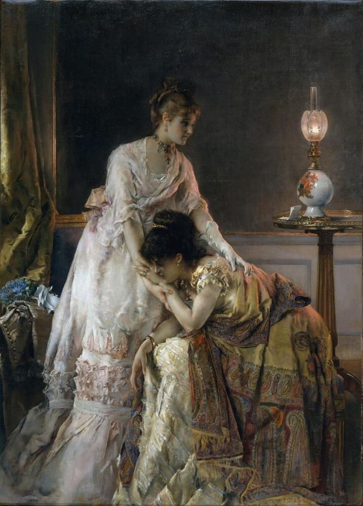 Альфред Эмиль Леопольд Стевенс, «После бала», 1874 г., 96х69 см, Метрополитен музей, Нью-Йорк, США